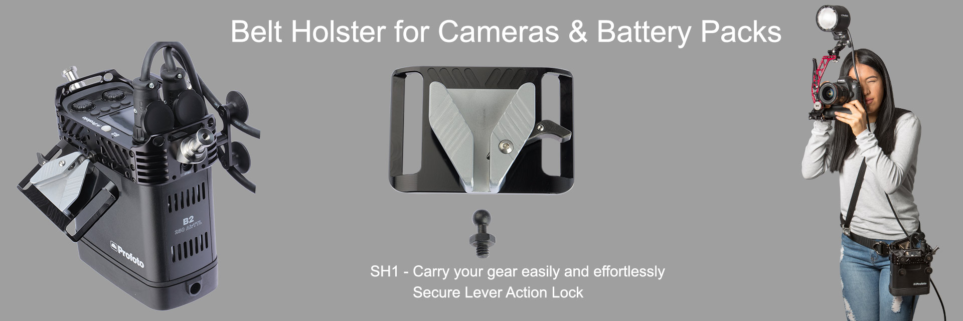 Belt Holster for Profoto B2 battery pack