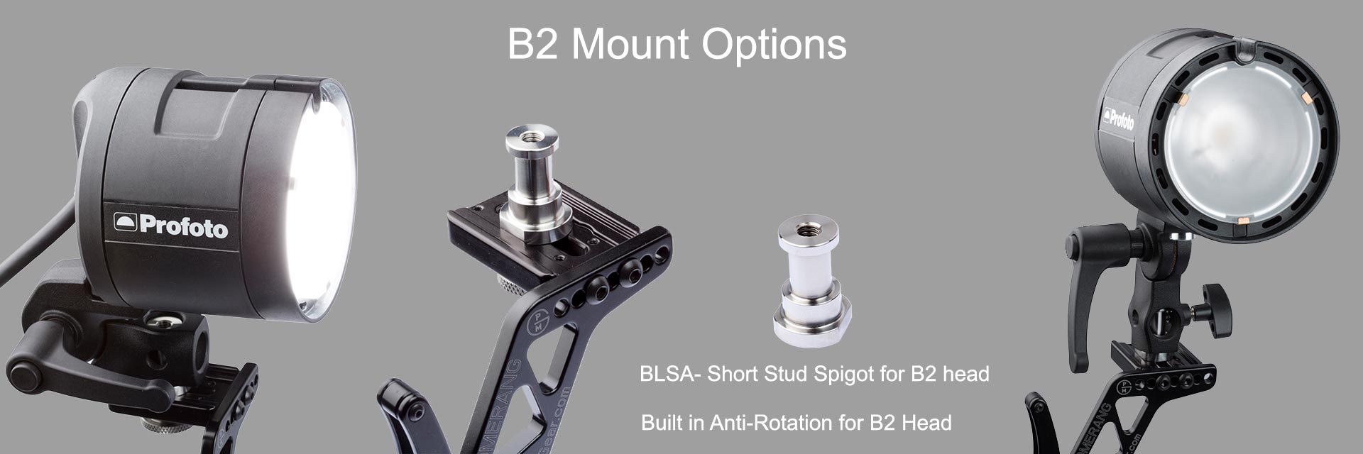 Stud for B2 strobe light